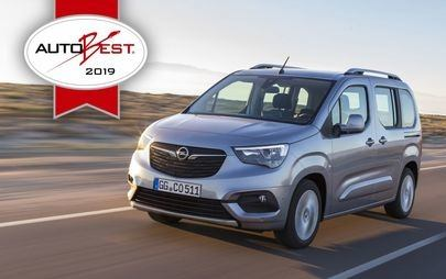 "Riconoscimento AUTOBEST: il nuovo Opel Combo Life è ""Best Buy Car of Europe 2019"""